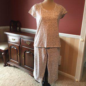 Carole Hochman 2 pc Pajama Set Size Small